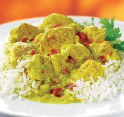 Curry - Huhn mit Reis