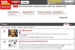 Webnews Startseite mit Paris Hilton und mir