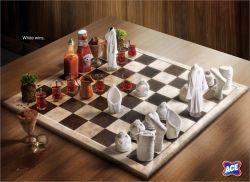 Ace Schach matt -weiss gewinnt