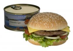 Cheeseburger in der Dose