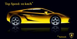 Lamborghini im Rückwärtsgang