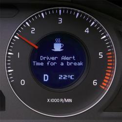Volvo Warnung - Zeit für einen Kaffee